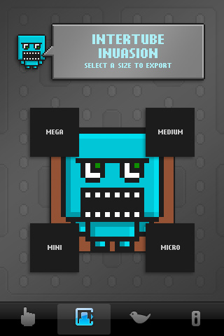 BlockHead export screen